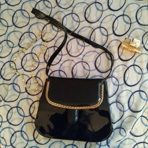 Adjustable Crossbody Shoulder Bag Patent Leather
